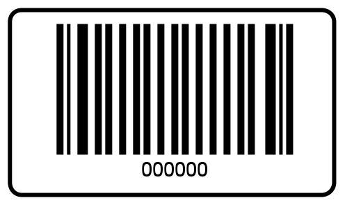 Barcode-Etiketten 40x23 mm - 000000