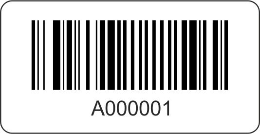 Barcode-Etiketten 45x23 mm